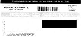 The US Credit Card Relief Plan of 2010 – Deceptive Mailer