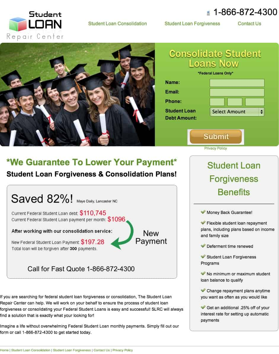 Student Loan Repair Center - Review. Are They a Scam?