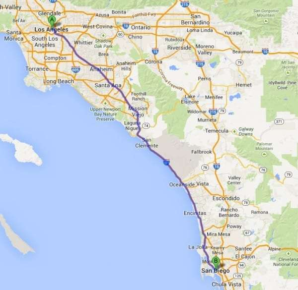 Fountain Valley to San Diego