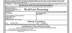 Did World Law Debt and Orion Processing Really File Bankruptcy?