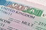 Close up United Kingdom visa in passport ** Note: Shallow depth of field