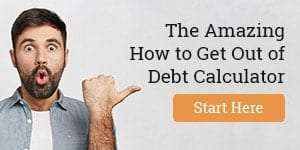 Amazing get out of debt calculator