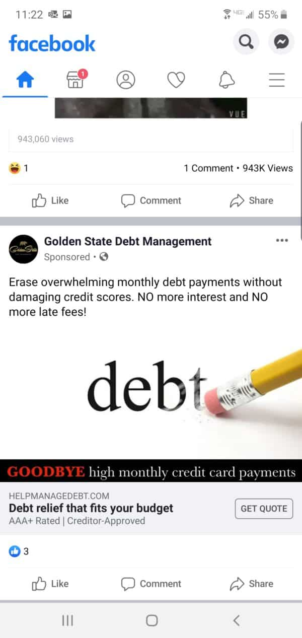 Golden State Debt Management Ad