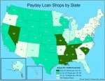 Payday Loan Shops by State
